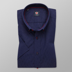 London shirt in dark blue with fine pattern (height 176-182) 10503