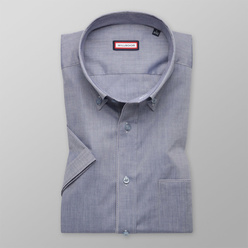 Slim fit shirt in grey with smooth pattern (height 176-182) 10565