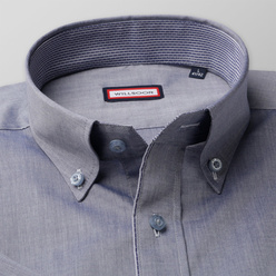 Classic shirt in grey with smooth pattern (height 176-182) 10566