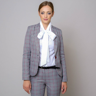 Women suit jacket with checked pattern 10574, Willsoor