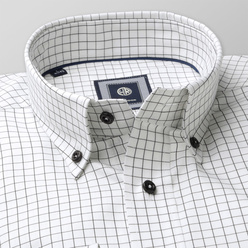 London shirt with black check pattern (height 176-182) 10579, Willsoor