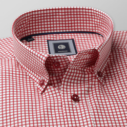 London shirt with red check pattern  (height 176-182) 10585, Willsoor