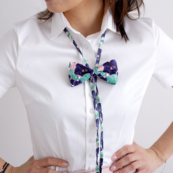 Women's bow tie with floral pattern 10595, Willsoor