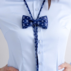 Women's bow tie with geometric pattern 10597, Willsoor