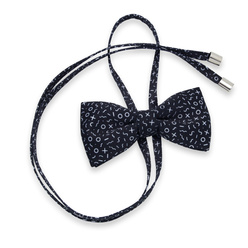 Women's bow tie with contrast white pattern 10598, Willsoor