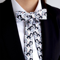 Women's bow tie with female faces print 10603, Willsoor