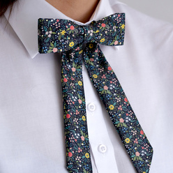 Women's bow tie with colorful floral pattern 10604, Willsoor