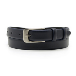 Women's dark blue leather belt 10610
