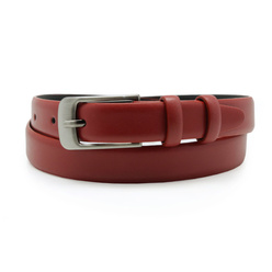 Women's red leather belt 10611