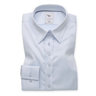 Women's shirt in pale blue with smooth pattern 10617, Willsoor