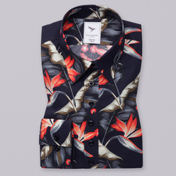 Women's shirt with colorful flower print 10618