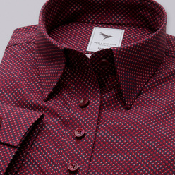 Women's shirt in claret with floral pattern 10622, Willsoor