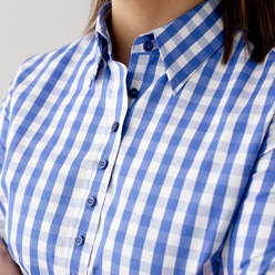 Women's shirt with check pattern 10626, Willsoor