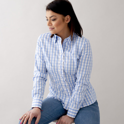 Women's shirt with checkpattern 10627, Willsoor