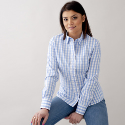 Women's shirt with checkpattern 10627