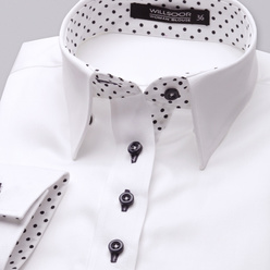 Women's shirt in white with smooth pattern 10628, Willsoor