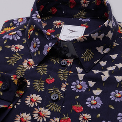 Women's shirt with colorful floral pattern 10631