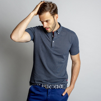 Men's polo t-shirt in graphite color 10685