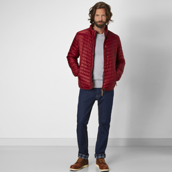 Men's quilted jacket in red Redpoint 10690