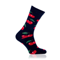 Men's socks with red cherry pattern10695