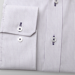 Classic shirt with fine purple pattern (height 176-182 a 188-194) 10721, Willsoor