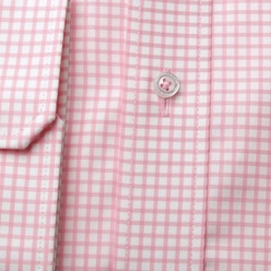 London shirt with pink check pattern (height 176-182) 10722, Willsoor