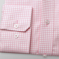 London shirt with pink check pattern (height 176-182) 10723, Willsoor