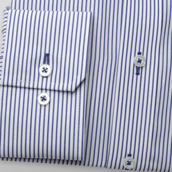 London shirt with dark blue striped pattern (height 176-182) 10725, Willsoor
