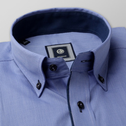 Classic shirt with dark blue elements (height 176-182) 10729, Willsoor