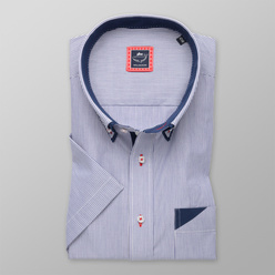 Classic shirt with blue-white striped pattern (height 176-182) 10733
