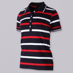 Women's polo t-shirt with strips 10739, Willsoor