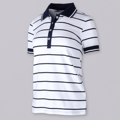 Women's polo t-shirt with fine strips 10740, Willsoor