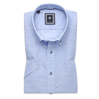 Slim Fit shirt in pale blue with stripes (height 176-182) 10761