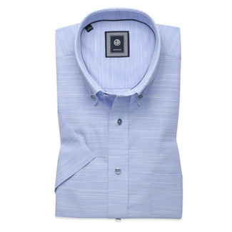 Classic shirt in pale blue with stripes  (height 176-182) 10762, Willsoor