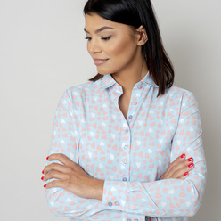 Women's shirt with hearts print 10766, Willsoor