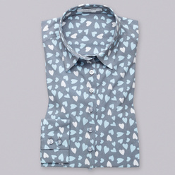 Women's shirt with hearts print 10767, Willsoor