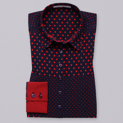 Women's shirt with red print 10768, Willsoor