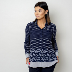 Women's shirt with white print 10769, Willsoor