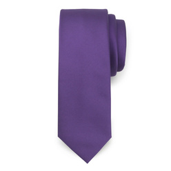 Narrow tie in purple color 10777