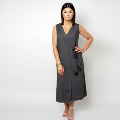 Long dress in anthracite color 10784, Willsoor