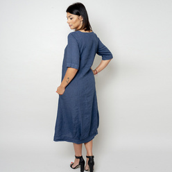 Canvas dress in dark blue color 10790, Willsoor