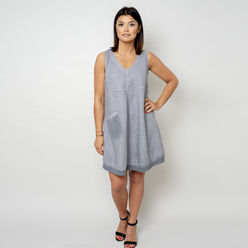 Short grey dress with a pocket 10798, Willsoor