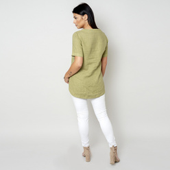 Women's canvas blouse in olive 10800, Willsoor