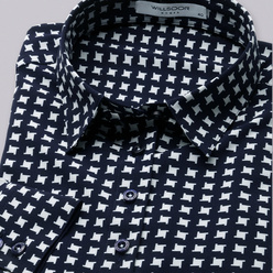 Women's shirt with white geometric pattern 10804, Willsoor