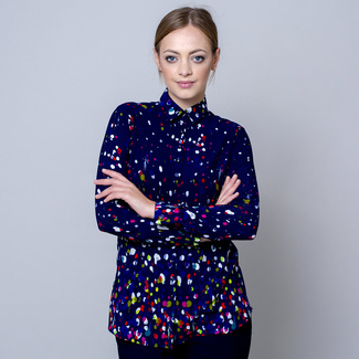 Women's shirt with colorful print 10806