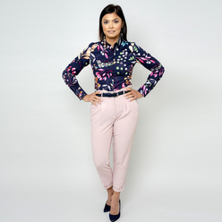 Women's shirt with colorful floral pattern 10813, Willsoor