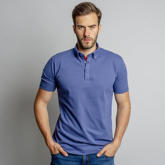 Men's polo shirt with smooth pattern 10818