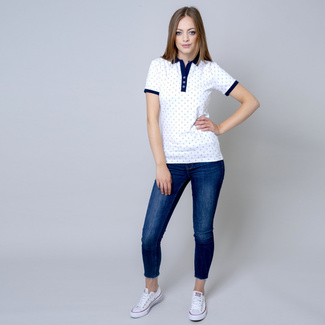 Women's polo t-shirt with sailing boat print 10821, Willsoor