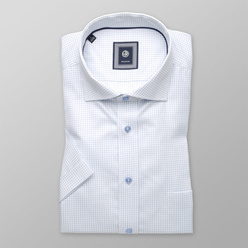 Classic shirt with pale blue pattern (height 176-182) 10837