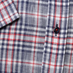 London shirt with red a blue check pattern (height 176-182) 10839, Willsoor
